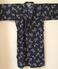 """Men Bamboo Art Kimono Yukata Cotton Japanese Bathrobe Robe Gown Sleepwear 48"""""""