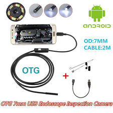 USB Endoscope Portable Autos OTG 7mm Inspection Camera With 6LED For Android 4.0