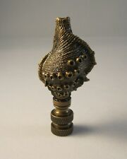 Lamp Finial-CAST SEA SHELL-Aged Brass Finish, Highly detailed metal casting,FS