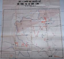 VC NLF Tactical Operation Map CHIEN DICH NGUYEN HUE TAN CONG THI XA BINH LONG
