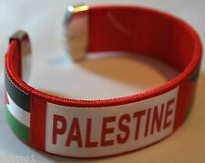 New Palestinian Bracelet - Wide Flexible Red Color Palestine Flags Wristband