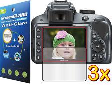 3x Anti-Glare Matte LCD Screen Protector Camera Nikon Digital DSLR D3200 D3300