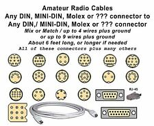 CABLE DIN MINI-DIN to most CONNECTORS, DIN-mini DIN-RJ-45  MOLEX, (FL-7000) ETC.