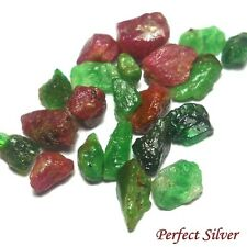 11.15 ct. 21 Pcs. Unheated Natural Emerald Colombia & Ruby @ FREE SHIP