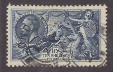 Great Britain Sc 224 used 1934 10sh dark blue Seahorses