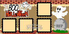 Scrapbook Page Kit Paper Piecing Halloween FaBOOlous Ghost Boy Girl PKEmporium 9