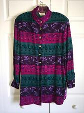 Dana Buchman 100% Sueded Silk Shirt, Blouse, Jacket Size 8