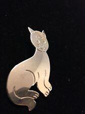 Silver Cat Pin/Pendant 925 Mexico