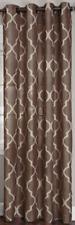 "NEW Elrene Medalia Room Darkening Geometric Mocha Curtain Panel 52""x84"""