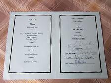 John McGOVERN Nottingham Forest & Derby FOOTBALL 2004 Original Hand Signed Menu