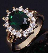 Women's Jewelry Size 10 Fantastic Bridal Emerald 18K Gold Filled Wedding Ring