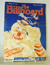 1942 The Billboard Spring Special World's Foremost Amusement Weekly Edition Book