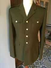 "Mens Army Dress Jacket Khaki Green Fancy Dress Uniform Chest 39.5"" 100cm"