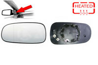 Left Side Heated Wing Door Mirror Glass For Saab YS3F 2002 - 2015 Wide Angle