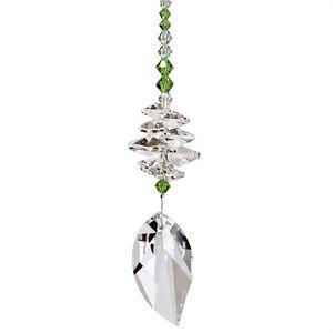 Woodstock Chimes Crystal Brilliance Cascade Suncatcher Spring Leaf Retail $35
