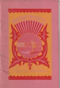 Partick Thistle - PTSA North West Branch - Rule Book and Subscriptions 1970-71