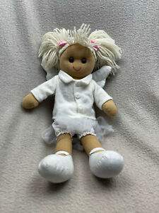 Powell Crafts rag doll with white outfit