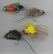 Pike Flies: A collection of Four patterns. Hook size 3/0 (code 534)