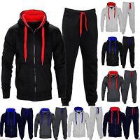 Herren Contrast Trainingsanzug Fleece Kapuzenpulli & Jogginghose Kinder Plus