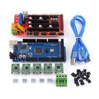 3D Printer Kit RAMPS 1.4 Controller Mega 2560 R3 Board 5pcs A4988 NEW AF