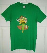 "Super Mario Gaming / King Koopa S Green T-Shirt 34"" Chest"