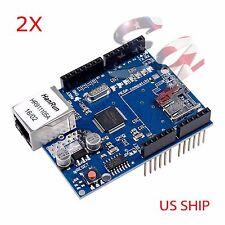 2X Ethernet Shield W5100 For Arduino Board 2009 UNO R3 ATMega 328 MEGA 1280 2560