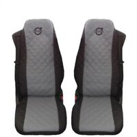 Volvo FH , FL , FE after 2014 Truck Seat Covers 2 piece (1+1) GRAY BLACK FH4