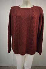 H&M Damen Strick Pullover  XL  Bordeauxbraun m.Mohair  Zopfmuster TOP