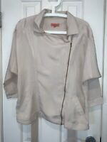 MANNING CARTELL 12 Shirt Jacket Beige With Zip And Tie Cupra