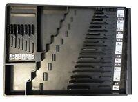 Wrench Organizer Tool Sorter Holder Rack Rail Toolbox Black