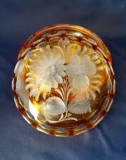 Boite Bonbonnière en Cristal de Couleur  - Saint Louis / Boheme - vase verre