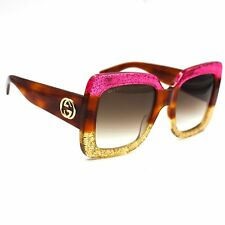 ecd0cdb1d3 Gucci Gg0083s 002 Pink Brown With Grey Gradient Lenses Sunglasses 100 UV