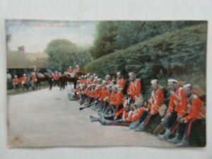 Royal Engineers on Manoeuvres Boer War Vintage sent 1906