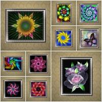 Fantasy Flower DIY 5D Diamond Embroidery Painting Cross Stitch Kit Home Deco DIY