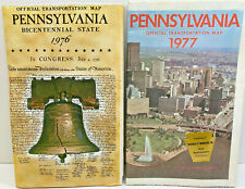 1976 and 1977 Official Transportation Maps for Pennsylvania