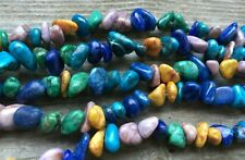 """15"""" Multi Color Dyed Marble CHIPS/NUGGETS 7-12mm, Approx 80 Pcs"""