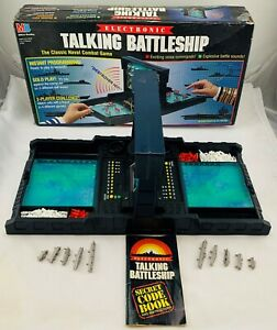 1989 Electronic Talking Battleship Game by Milton Bradley Complete in Good Cond