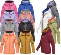 Marikoo Damen Herbst Winter Jacke FVSC Wendejacke Softshell Baumwolle 2in1 Chuu