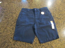 Wonder Nation School Uniform Shorts Flat Front Boys 16 H NWT Adjustable waist