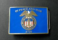 US MERCHANT MARINE BELT BUCKLE 3.1 INCHES 1775 IN PEACE AND WAR
