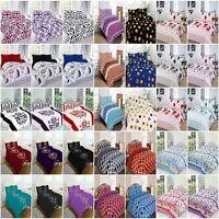Duvet Cover Luxury Poly Cotton Quilt Cover Plus Pillow Case Bedding Set All Size