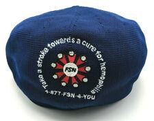 HEMOPHILIA CURE golf tournament blue flat cap / newsboy - One Size