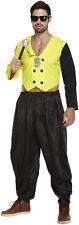 MC Hammer 80's Rap King Rapper Mens Fancy Dress Costume Size M/L P8057