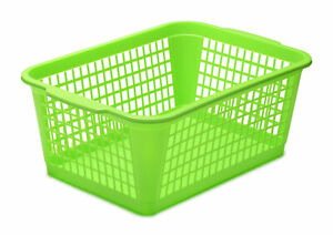 YBM Home Large Plastic Storage Basket for Organizing, 32-1184