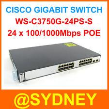 Cisco WS-C3750G-24PS-S 24-Port PoE Gigabit Switch 24 10/100/1000 PoE Tax Invoice