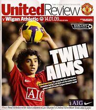 MANCHESTER UNITED v WIGAN ATHLETIC Premier League 2008/09 MINT