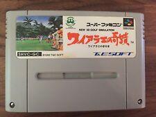 New 3D Golf Simulation Waialae no Kiseki SHVC-GC Nintendo Super Famicom SFC