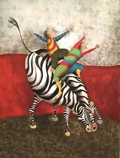 GRACIELA RODO BOULANGER B-1935 ARTIST PROOF CHILDREN ZEBRA MODERNIST LITHOGRAPH
