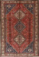Unique Tribal Geometric Abadeh Persian Oriental Hand-Knotted 7x10 Wool Area Rug