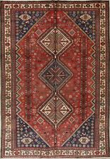 Unique Tribal Geometric Abadeh Oriental Hand-Knotted 7x10 Wool Area Rug